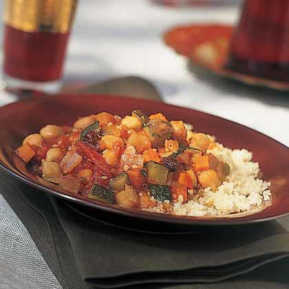 Moroccan Chickpea-and-Vegetable StewRecipe