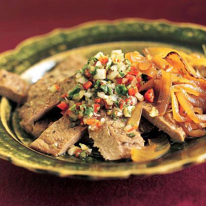 Churrasco with Pebre (Grilled Beef Tenderloin with Chilean Cilantro Sauce)Recipe