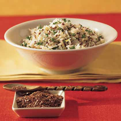 Confetti Rice Pilaf with Toasted Flaxseed Recipe