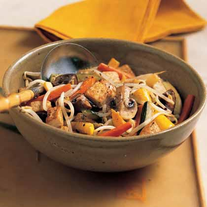 Stir-Fried Vegetables and Tofu