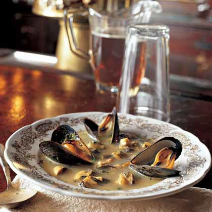 Mussel Saffron Soup