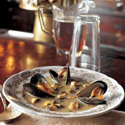 Mussel Saffron Soup Recipe