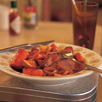 Onion-Smothered Roast Brisket and Vegetables