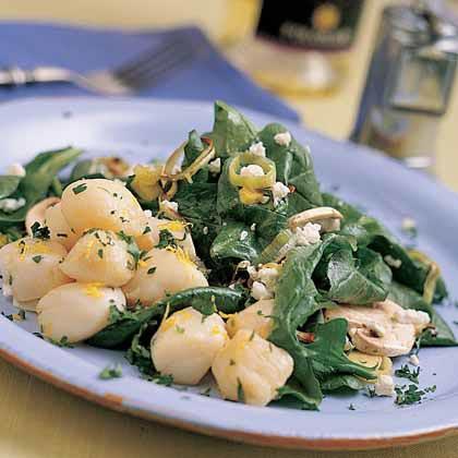 Field Salad with Roasted Leeks, Mushrooms, and Feta