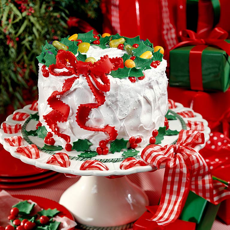 Holiday Lane Cake Recipe | MyRecipes.com