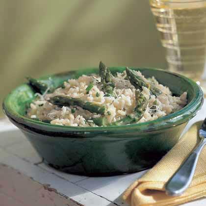 Creamy Rice with Asparagus