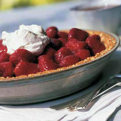 Fresh Strawberry Pie RecipeFind a you-pick farm and gather your own strawberries or stock-up at your local farmer's market. This pie requires eight cups of berries so you'll need to have plenty on-hand.