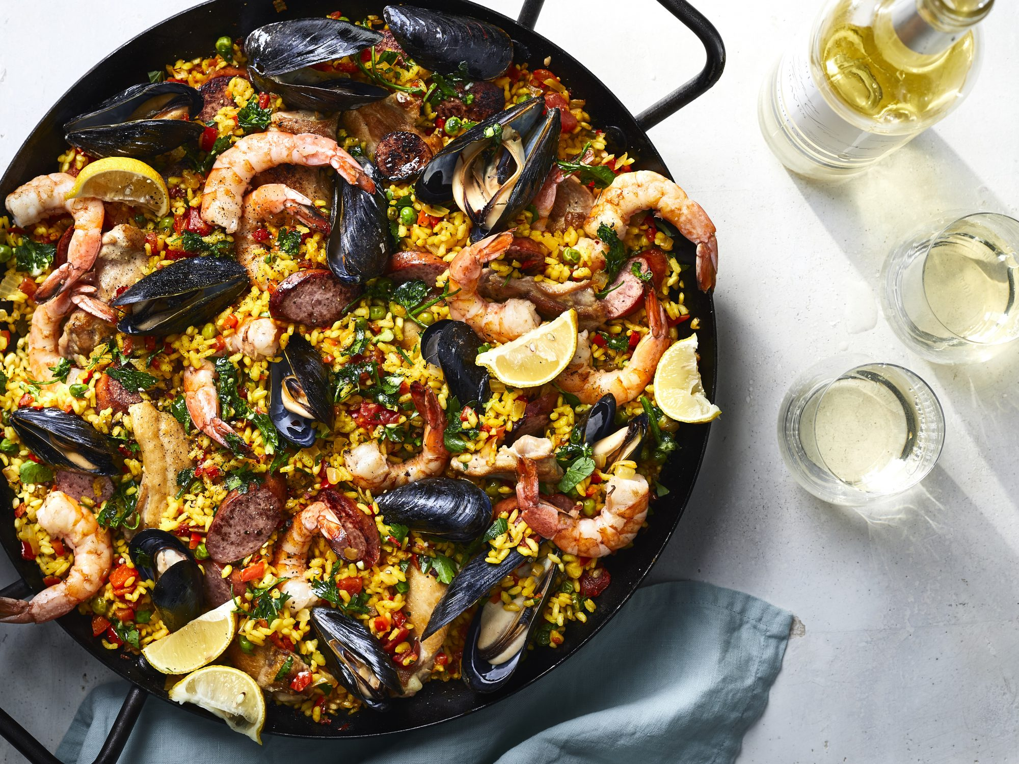 Traditional Spanish Paella Recipe | MyRecipes