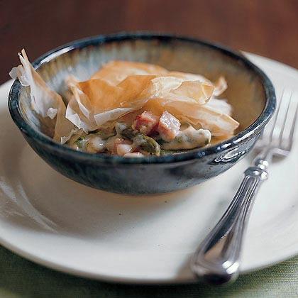 Cheddar-Asparagus Potpie Recipe