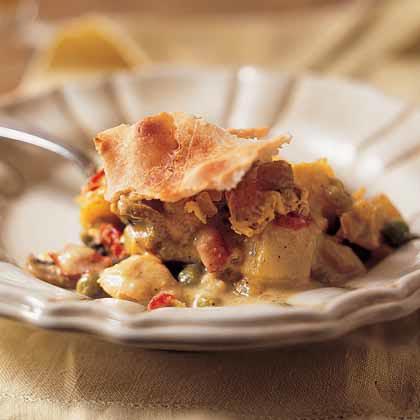 Curried-Chicken Potpie