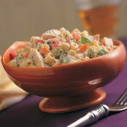 Confetti Pasta Salad with Chicken