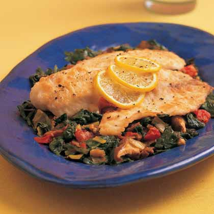 Pan-Seared Cod Over Vegetable Ragout Recipe