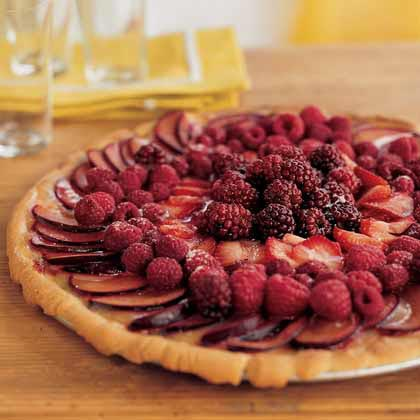 Fresh-Fruit Pizza with Lemon Curd Recipe | MyRecipes