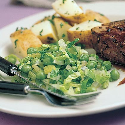 Fresh Peas with Lettuce