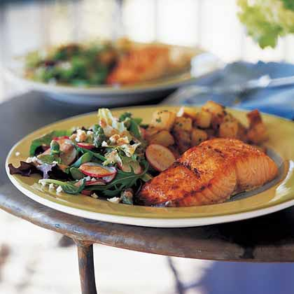 Broiled Salmon with Honey and Vermouth Recipe