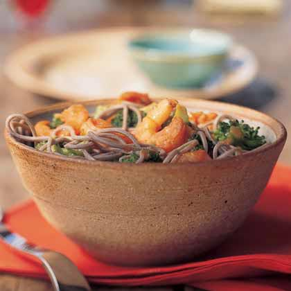 Shrimp and Broccoli in Chili Sauce
