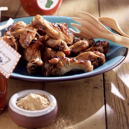 Start with a jar of salsa for this 4-ingredient appetizer wing recipe. Simply adding honey and ginger to store-bought salsa turns it into a super-flavorful coating.Honey Chicken Wings Recipe