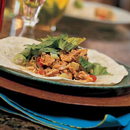 Ginger-Peanut Chicken-Salad WrapsRecipe