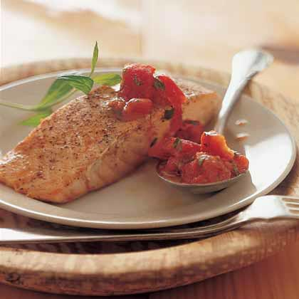 Roast Salmon with Tomatoes and TarragonRecipe