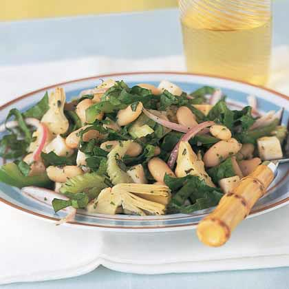 Italian White Bean-and-Artichoke Salad Recipe