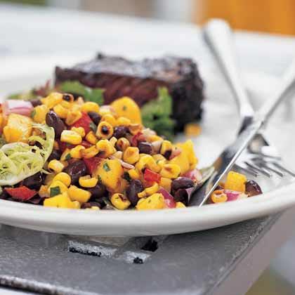 Roasted Corn, Black Bean, and Mango Salad