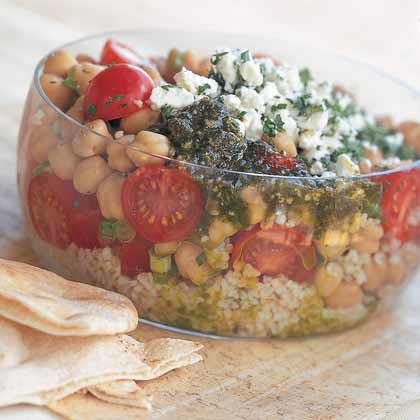 Tabbouleh with Beans and FetaRecipe