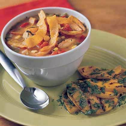 Corn-and-Shrimp Tortilla Soup Recipe