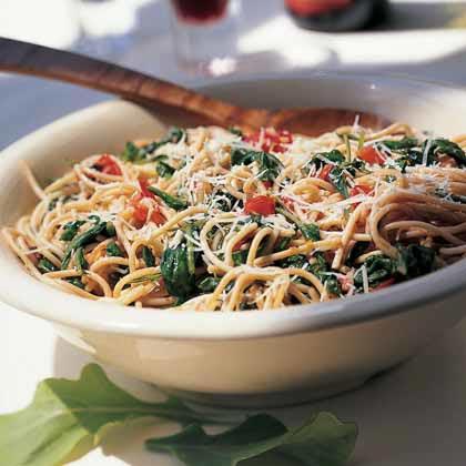 Whole-Wheat Spaghetti with ArugulaRecipe