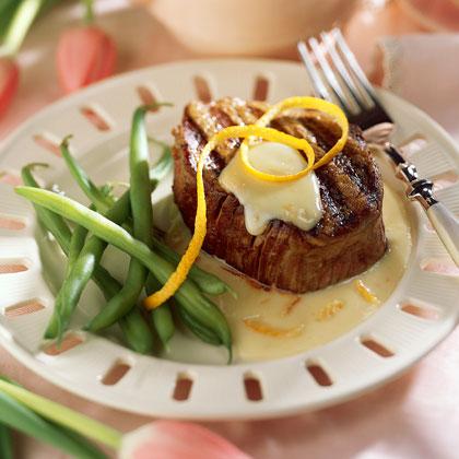 Beef Fillets with Orange Cream