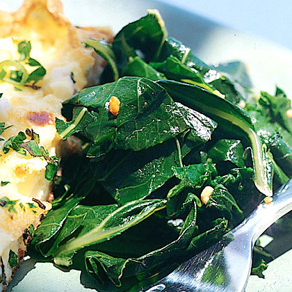 Greens with Garlic and Lemon