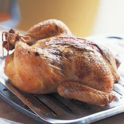 Sunday Roasted Chicken with Giblet Gravy