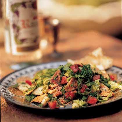 Fattoosh Mixed Herb and Toasted Pita SaladRecipe