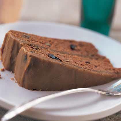 Applesauce-Raisin Cake with Caramel Icing