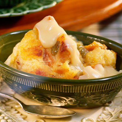 Bread Pudding with Vanilla Sauce Recipe | MyRecipes
