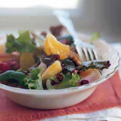 Clementine Salad with Spiced Walnuts and Pickled OnionsRecipe