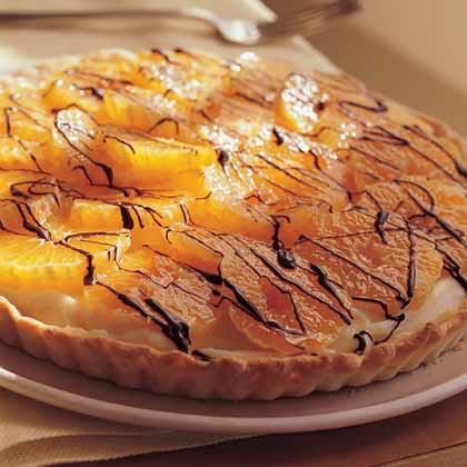 Clementine-Chocolate Cream Tart