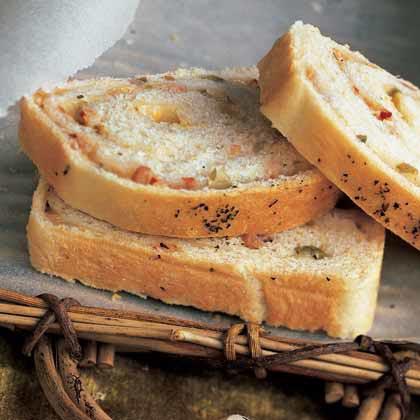 Mozzarella-Ham Swirl Bread