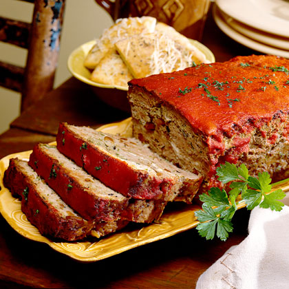 Lamb Meat Loaf with Feta Cheese