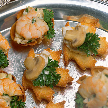 Mushroom canap s recipe for Hot canape ideas