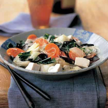 Asian Noodle, Tofu, and Vegetable Stir-Fry Recipe