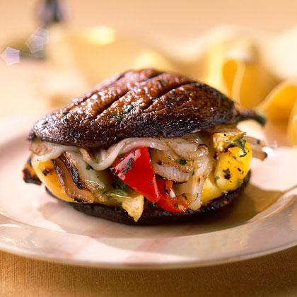 Grilled Beef and Mushroom Burger Recipe   SimplyRecipes.com