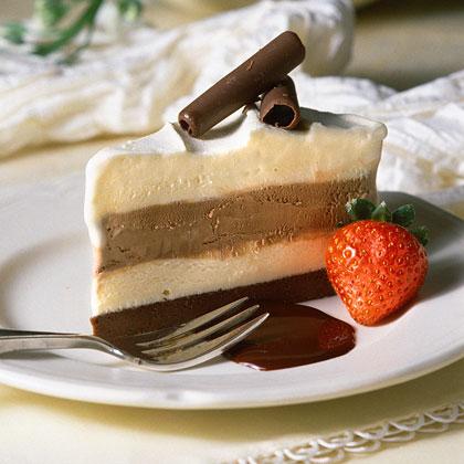 Frozen Chocolate Brownie Pie
