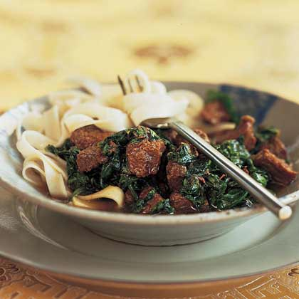 Cinnamon-Beef Noodles Recipe