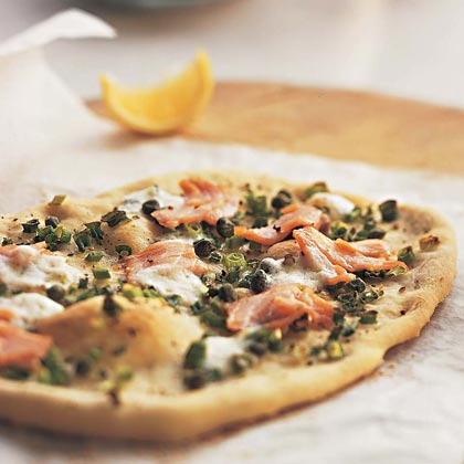 Smoked-Salmon Pizza with Mascarpone and Capers Recipe | MyRecipes.com