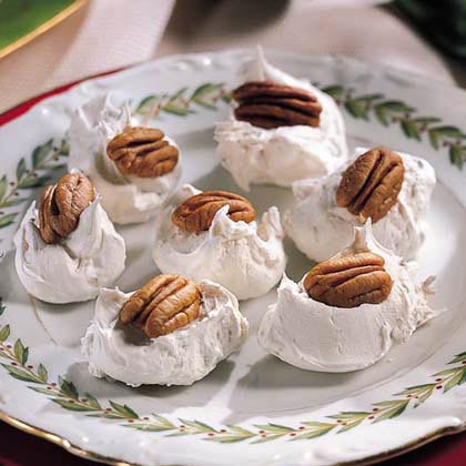 Divinity is a classic candy make with granulated sugar, corn syrup, and stiffly beaten egg white. With the addition of chopped pecans, this divinity is crunchy, fluffy, and simply divine.Recipe: Mrs. Floyd's Divinity