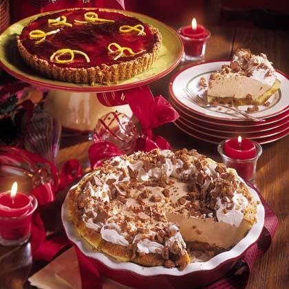 Mascarpone Cream Pie with Berry Glaze