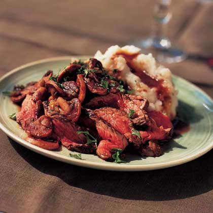 Beef with Rosemary-Mushroom Sauce Recipe