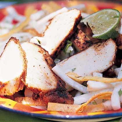 Jicama Salad with Chili-Spiced Chicken