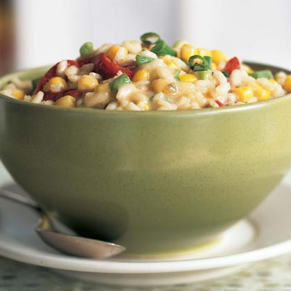 Monterey Jack, Corn, and Roasted Red Pepper RisottoRecipe