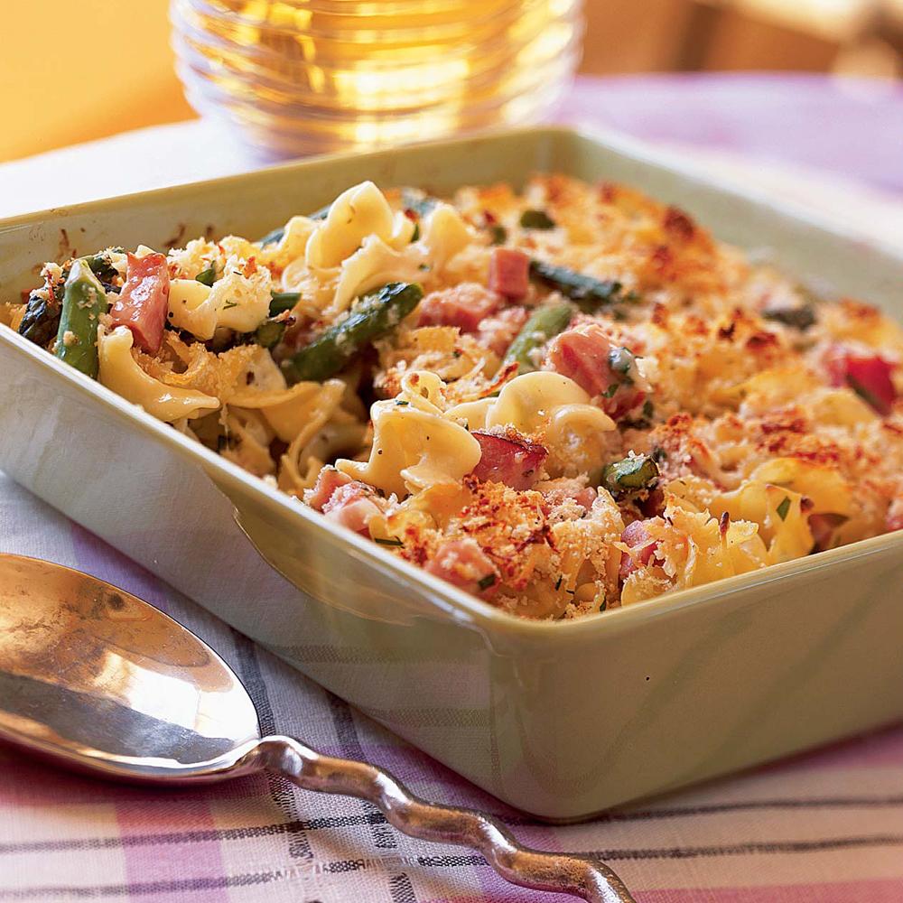 Asparagus-and-Ham Casserole